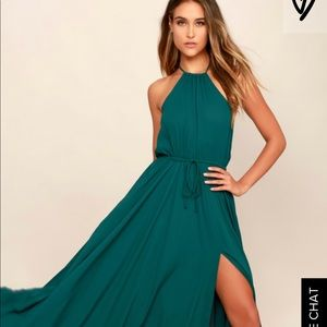 Lulus green maxi dress